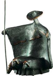 """Skulptur """"Stehender Schäfer"""", Bronze"""