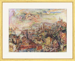 """Bild """"Prag, von der Villa Kramar gesehen"""""""