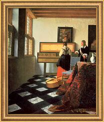 """Bild """"Die Musikstunde"""" (1662/64), gerahmt"""