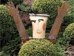 """Gartenstecker """"Lachen will ich"""""""