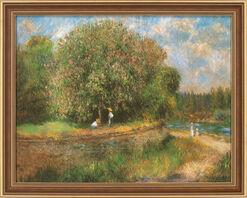 """Bild """"Blühender Kastanienbaum"""" (1881), gerahmt"""