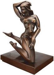 """Skulptur """"Orchidee"""", Bronze"""