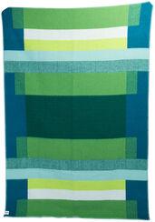 "Wolldecke ""Mikkel grün"" im Bauhaus-Stil"