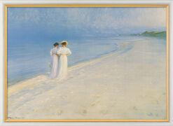 """Bild """"Sommerabend bei Skagen - Der Strandspaziergang"""" (1893), gerahmt"""