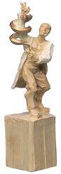 "Skulptur ""Arzt"", Kunstguss Holzfinish"