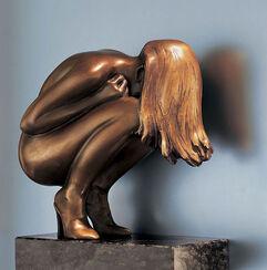 "Skulptur ""Hair"", Bronze"