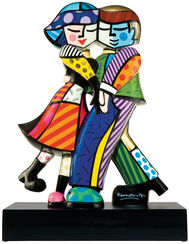 "Porzellanskulptur ""Cheek to Cheek"""