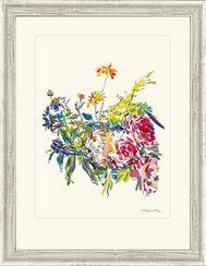 """Bild """"Sommerblumen mit Rosen"""", 1969, gerahmt"""
