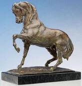 """Skulptur """"Stampfendes Pferd"""" (Originalgröße), Bronze"""
