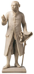 "Skulptur ""Immanuel Kant"", Version in Kunstmarmor"