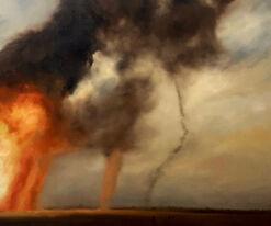 """Bild """"Wüstenfeuer # 1"""" (2017) (Unikat)"""