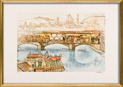 """Bild """"Ponte Vecchio"""" (1996), gerahmt"""