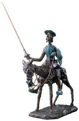 """Skulptur """"Don Quichotte, der Ritter von der traurigen Gestalt"""", Bronze"""