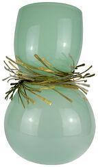 "Vase ""Festive Jade"", Glas/Bronze"