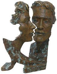 "Skulptur ""Silueta"", Kunstguss Steinoptik"