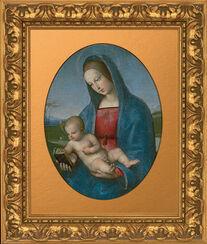 "Bild ""Madonna mit Kind"" (sog. ""Madonna Conestabile"") (um 1502-039), gerahmt"