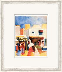 """Bild """"Markt in Tunis"""" (1914), gerahmt"""