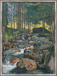 "Bild ""Wald mit Bergbach"" (1902), gerahmt"
