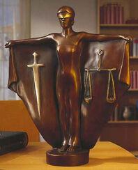 """Skulptur """"Justitia"""", Version in Kunstbronze"""
