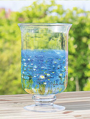 """Windlicht / Vase """"Seerosen"""", Glas"""