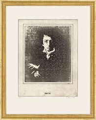 """Bild """"Porträt Heinrich Heine"""", gerahmt"""
