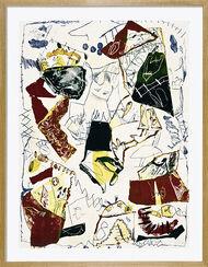 """Bild """"Dorfgemeinschaft"""" (1991), gerahmt"""