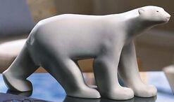 """Skulptur """"Großer Polarbär"""", Kunstmarmor"""