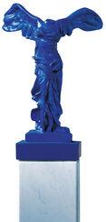 """Skulptur """"Nike Blau"""" (37 cm), Kunstguss handbemalt"""