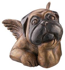 """Skulptur """"Sixtinischer Mops (mit aufgestütztem Kinn)"""", Version in Bronze"""