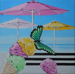 "Bild ""Love Ice Cream"" (2016) (Unikat)"