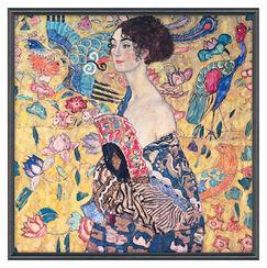 """Bild """"Dame mit Fächer"""" (1917/18), gerahmt"""