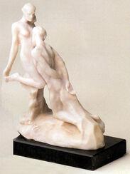 """Skulptur """"Ewiges Idol"""" (Idole éternelle), Kunstmarmor"""
