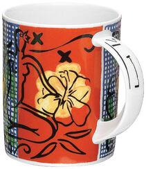 """Kaffeebecher """"Mustique Flowers"""", Porzellan"""