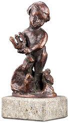 """Sternzeichen-Skulptur """"Wassermann"""" (21.1.-19.2.), Metallguss"""