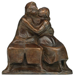 "Skulptur ""Kussgruppe I"" (1921), Reduktion in Bronze"