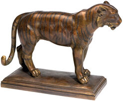"Skulptur ""Tiger"", Version in Bronze"