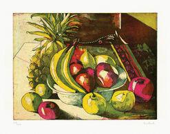 """Bild """"Stillleben mit Ananas"""" (1996), ungerahmt"""