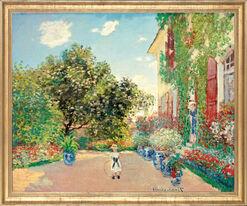 """Bild """"Das Haus des Künstlers in Argenteuil"""" (1873), gerahmt"""
