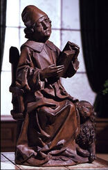 "Skulptur ""Evangelist Markus"", Kunstguss"