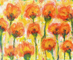 """Bild """"Flowers in the sun"""" (2013) (Unikat)"""