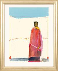 """Bild """"Gestalt unter blauem Himmel"""" (2002), gerahmt"""
