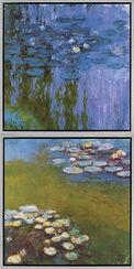 """2 Bilder """"Seerosen II"""" (Nympheas 1916-19) und """"Seerosen I"""" (Nympheas 1914-17) im Set"""