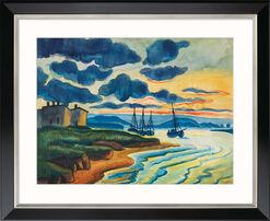 """Bild """"Sonnenuntergang"""" (1925), Version schwarz gerahmt"""