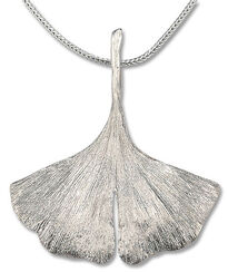 Ginkgo-Collier in 925er-Sterlingsilber