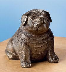"""Skulptur """"Mops"""", Bronze"""