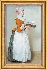 "Bild ""Schokoladenmädchen"" (1743-45), gerahmt"