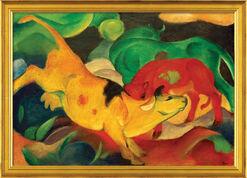 """Bild """"Kühe Gelb, Rot, Grün"""" (1912), gerahmt"""