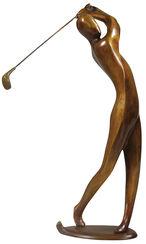 "Skulptur ""Golfer"", Bronze"