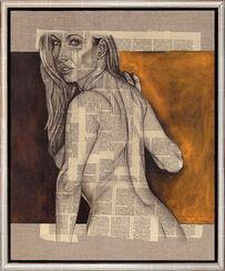 "Bild ""Mujer de espalda"" (2008) (Original / Unikat), gerahmt"
