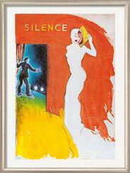 """Bild """"Silence"""", gerahmt"""
